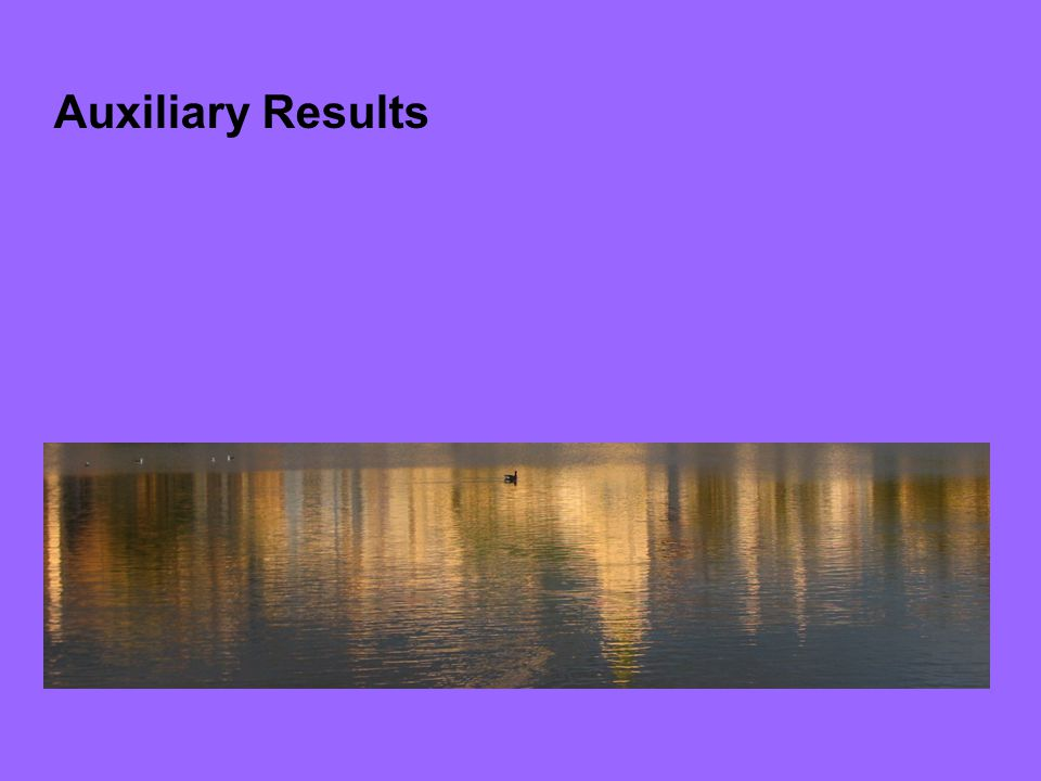 Auxiliary Results