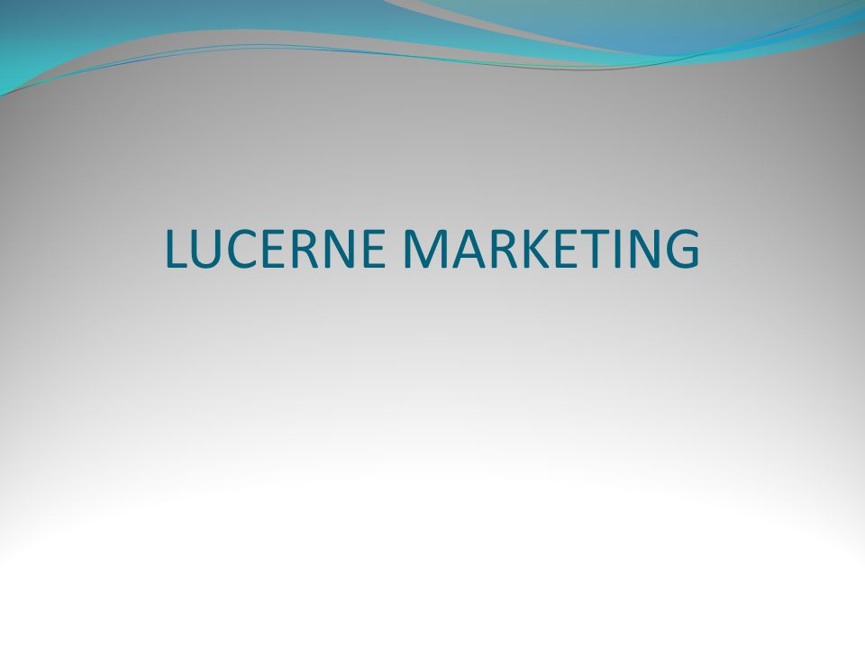 LUCERNE MARKETING