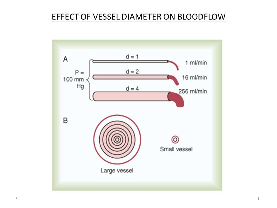 EFFECT OF VESSEL DIAMETER ON BLOODFLOW