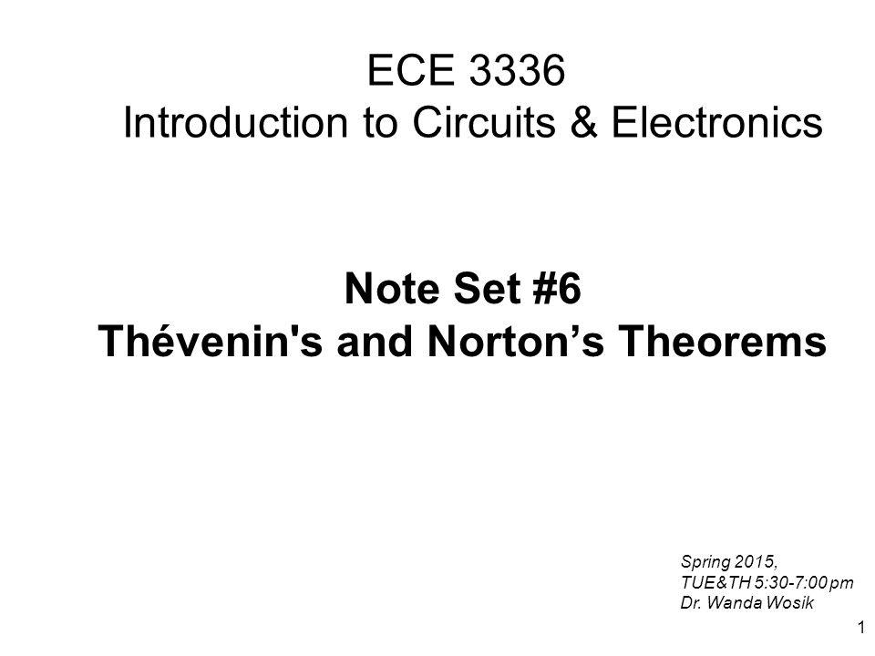 12 Find Thevenin Voltage For Thévenin equivalent having found v C we will find v OC from the voltage divider rule v OC +-+- vCvC +-+-