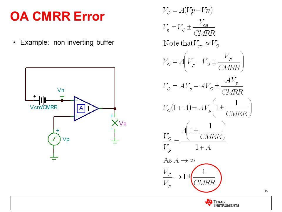 15 OA CMRR Error Example: non-inverting buffer