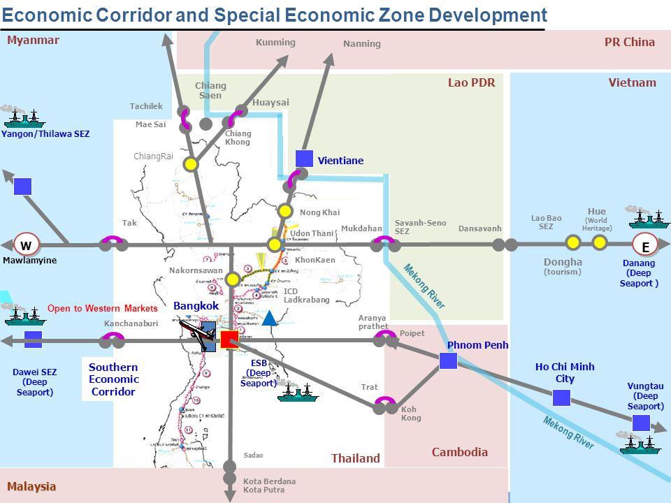 16 October 2012 5 www.nesdb.go.th Economic Corridor and Special Economic Zone Development Yangon/Thilawa SEZ Kunming Udon Thani Kota Berdana Kota Putr