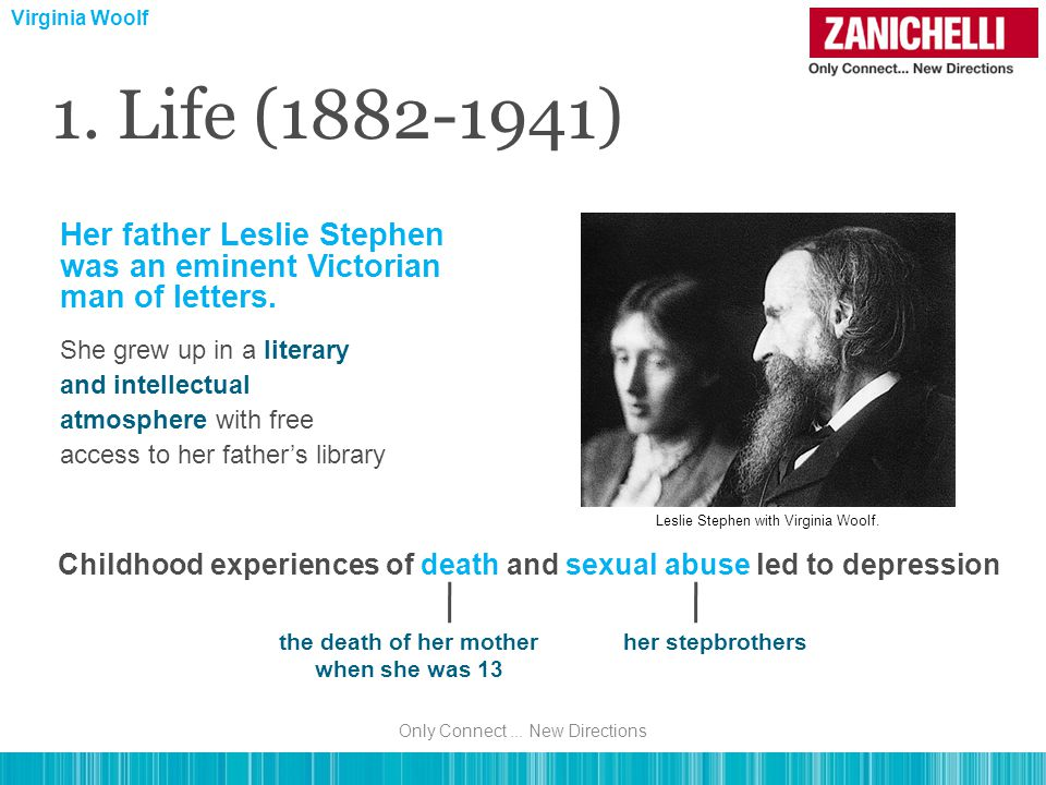 1.Life (1882-1941) The Second World War increased her anxiety and fears.