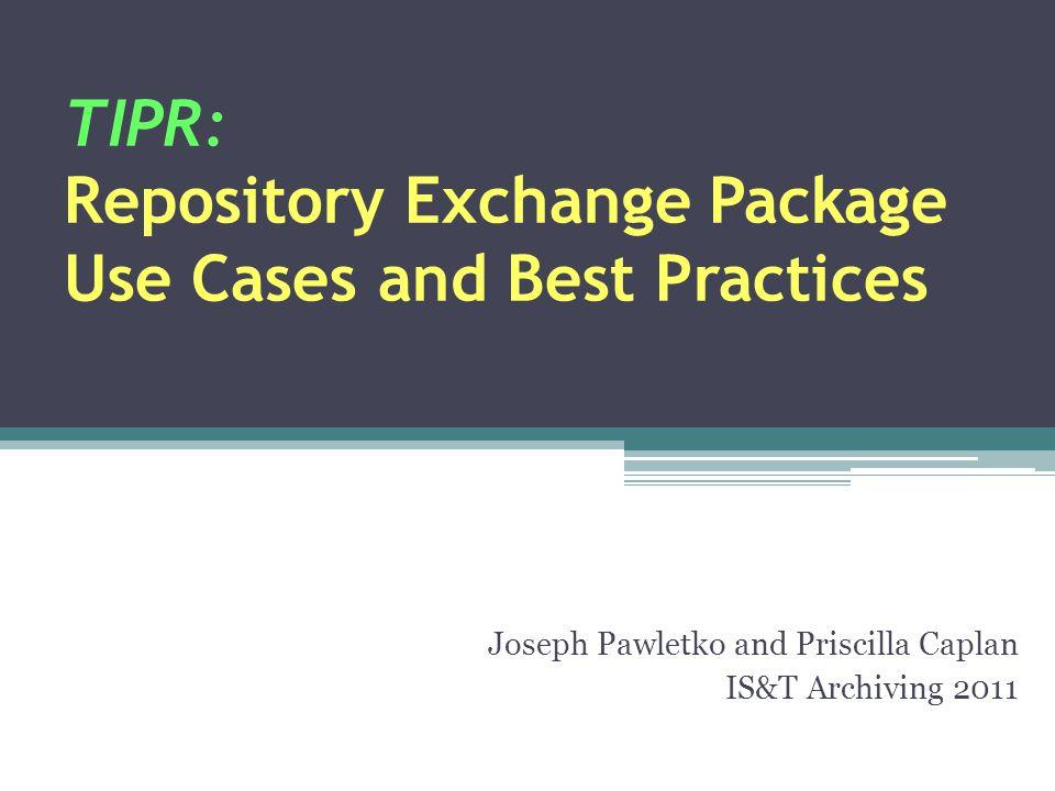 Talk Outline TIPR Background RXP Structure RXP Use Cases RXP Best Practices RXP Limitations / Possible Modifications Transfer Partner Decisions Conclusion Questions 2