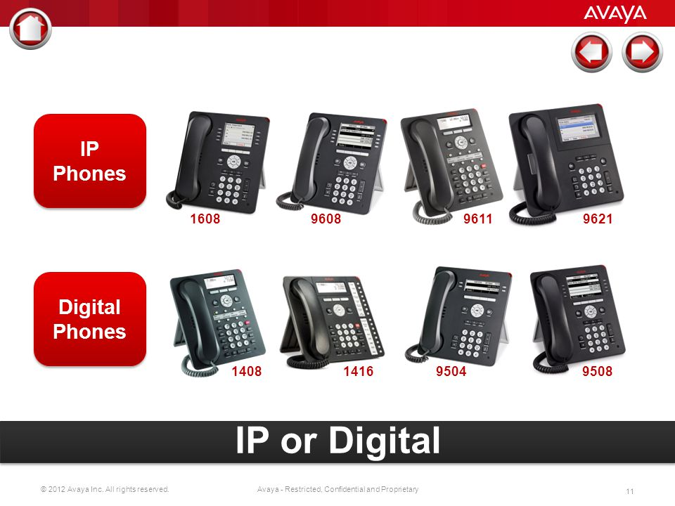 © 2012 Avaya Inc. All rights reserved. 10 Avaya - Restricted, Confidential and Proprietary Brilliant audio quality/acoustics Large, high-res touch scr