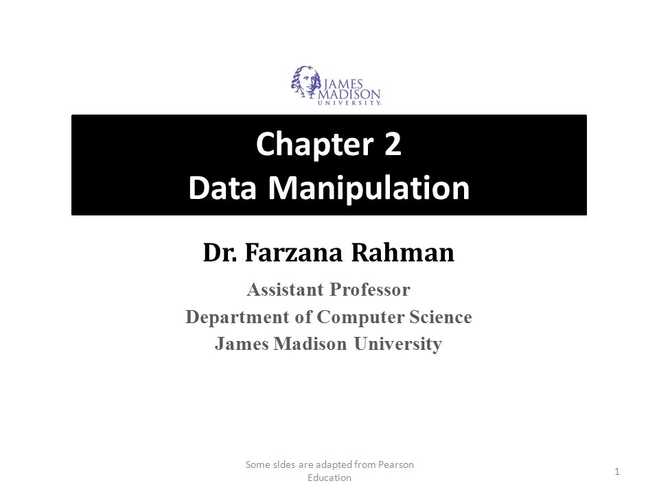 Machine Instruction Types Data Transfer: copy data from one location to another Arithmetic/Logic: use existing bit patterns to compute a new bit patterns Control: direct the execution of the program 22 Some sldes are adapted from Pearson Education