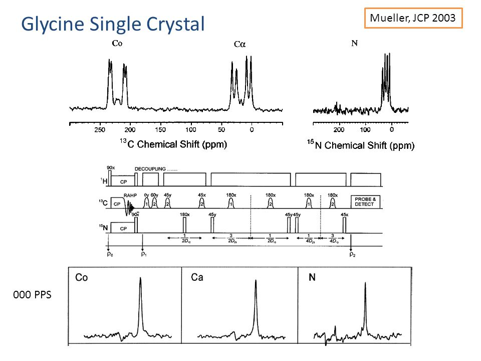 Glycine Single Crystal Mueller, JCP 2003 000 PPS