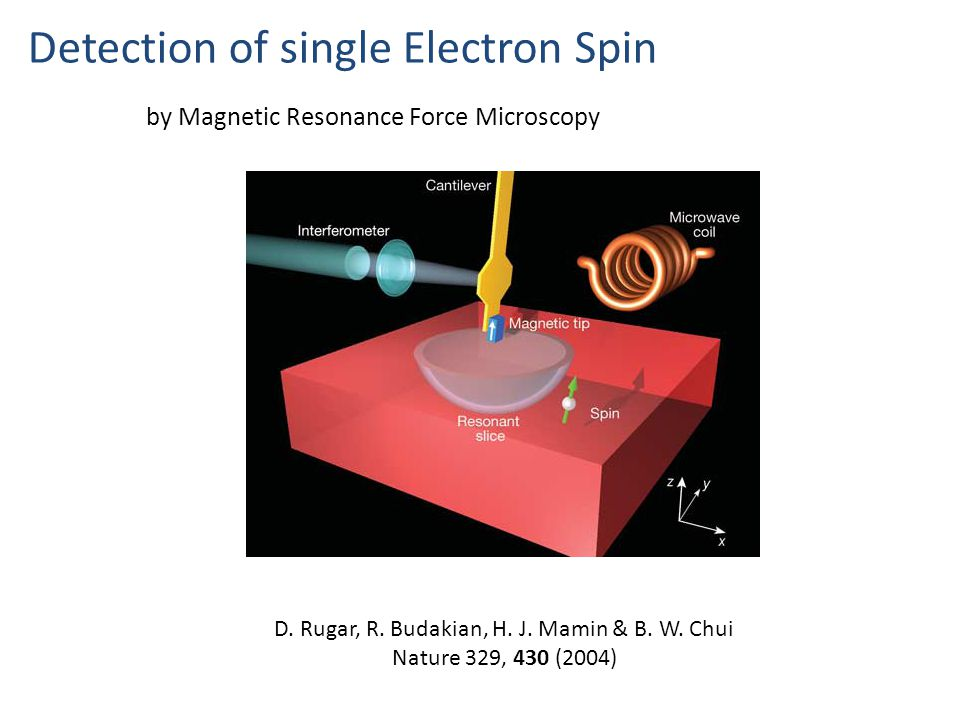 Detection of single Electron Spin D. Rugar, R. Budakian, H.