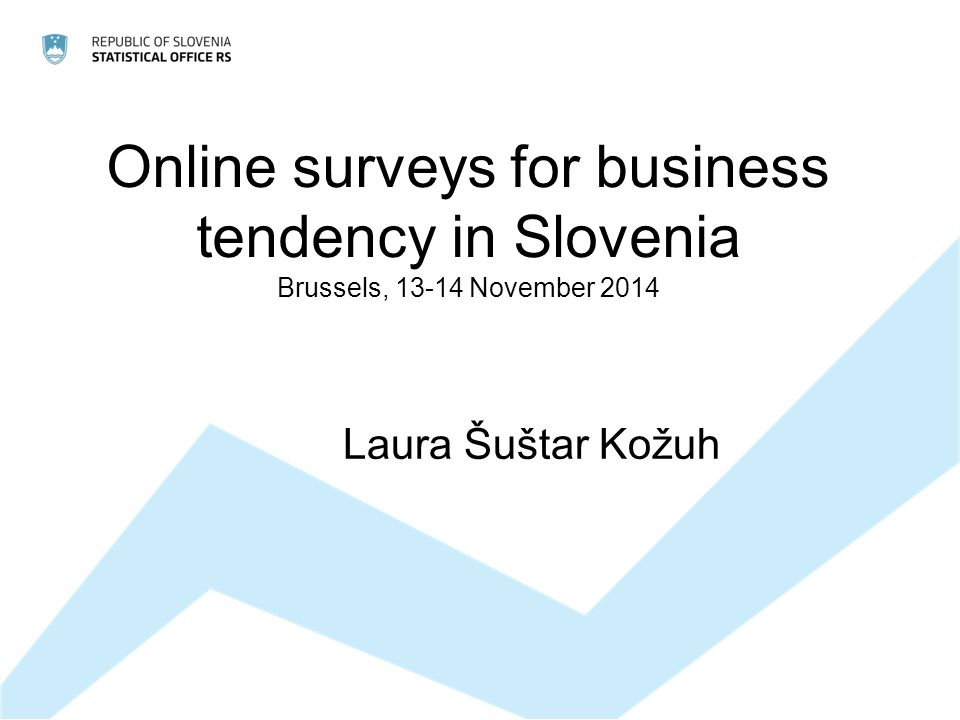 Online surveys for business tendency in Slovenia Brussels, November 2014 Laura Šuštar Kožuh