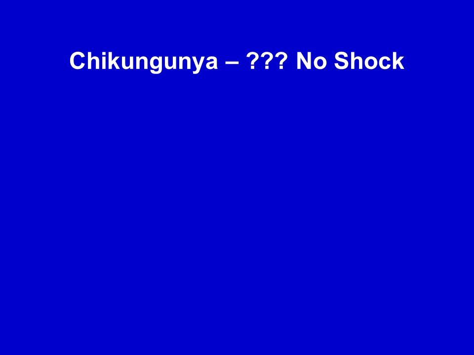4. The duration of fever in chikungunya was much shorter than in dengue; 50% of chikungunya patients had fever for only two days. 5. In chikungunya, t