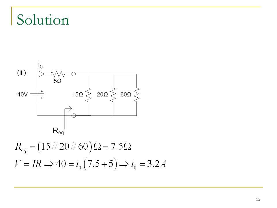 12 Solution (iii)