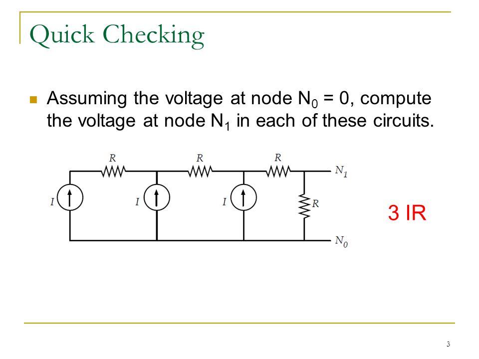 14 Solution Step 1: Define the node voltage (v 1,v 2,v 3 ) Step 2: Define the current direction