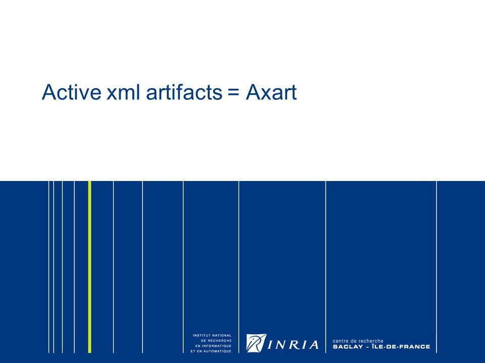 Active xml artifacts = Axart