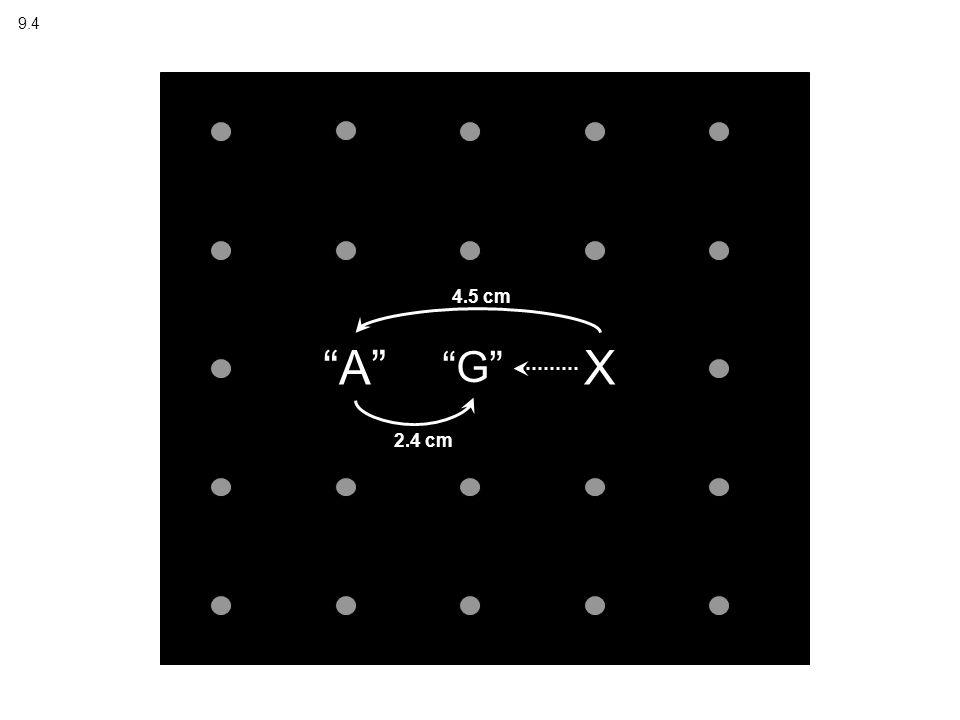 X A G 4.5 cm 2.4 cm 9.4