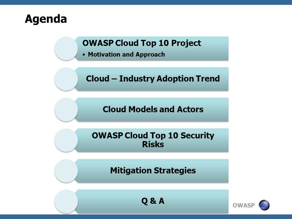 OWASP R1: Risk: Accountability & Data Application Web/App/DB server Computing Network Storage Application Web/App/DB server Computing Network Storage Application Web/App/DB server Computing Network Storage Cloud Consumer SaaS PaaS IaaS * * Few exceptions Accountable Cloud Provider