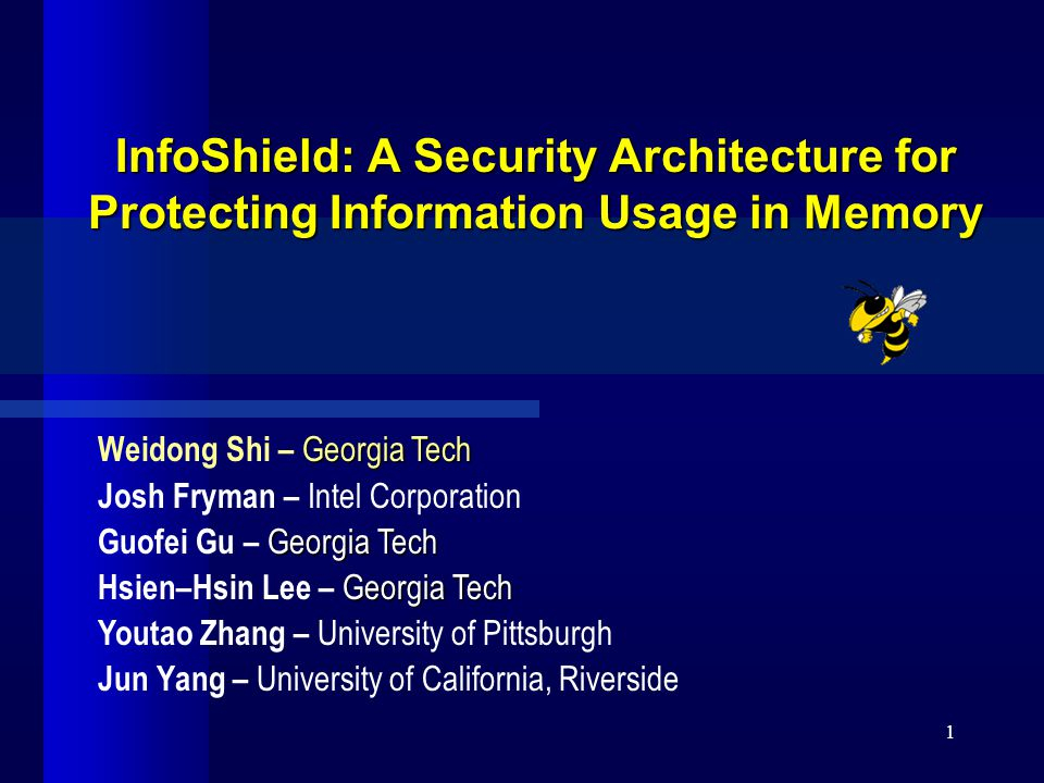InfoShield 22 Bochs Hack  Profiled applications Instrument applications (memory tainting) to expose  where the sensitive data are stored  when they are created and when they are destroyed  Bochs : For each process (identified via process unique CR3 value in x86)  number of memory reads that fetch sensitive data  number of instructions that directly manipulate loaded sensitive data