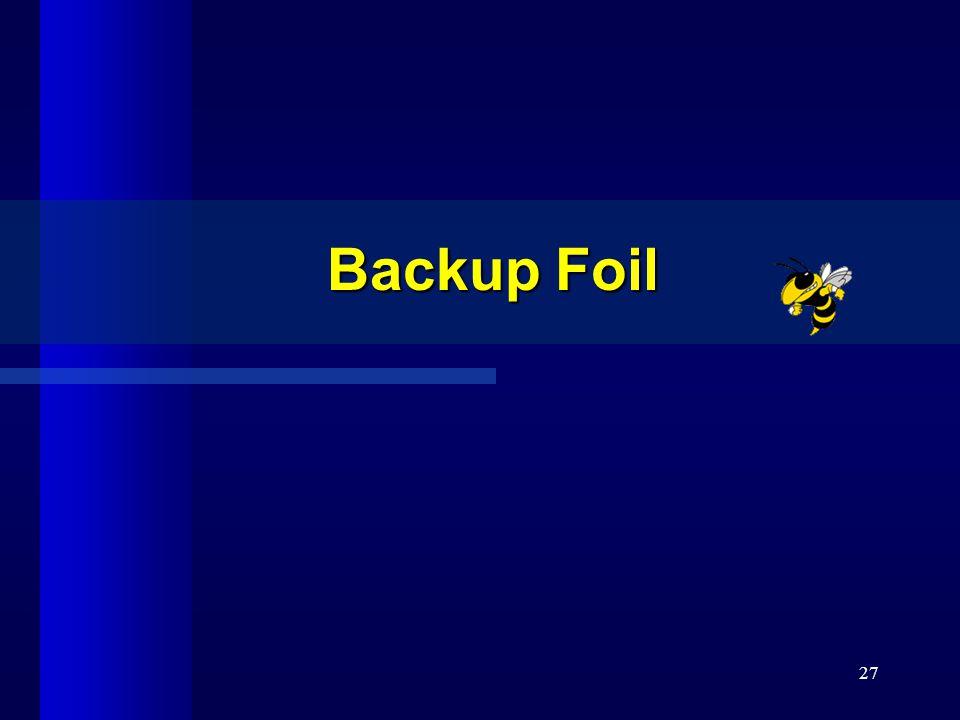27 Backup Foil