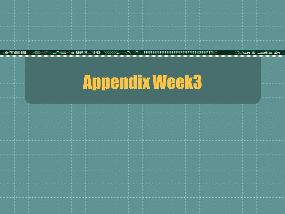 Appendix Week3