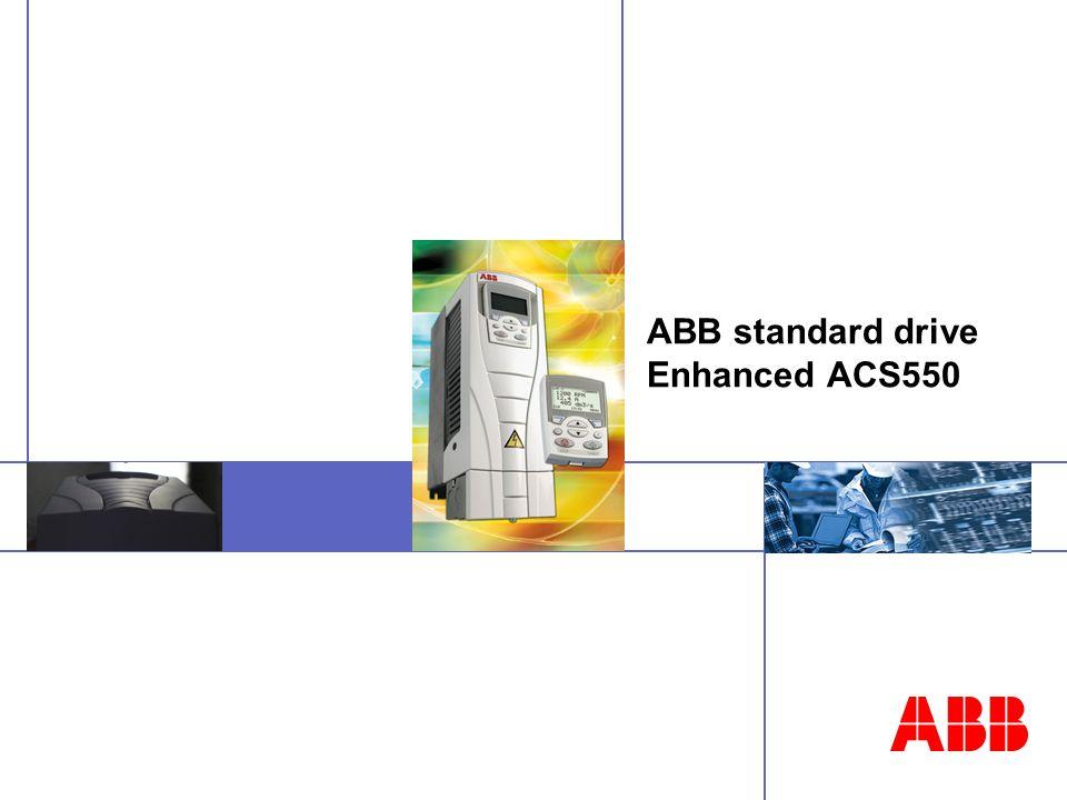 ABB standard drive Enhanced ACS550