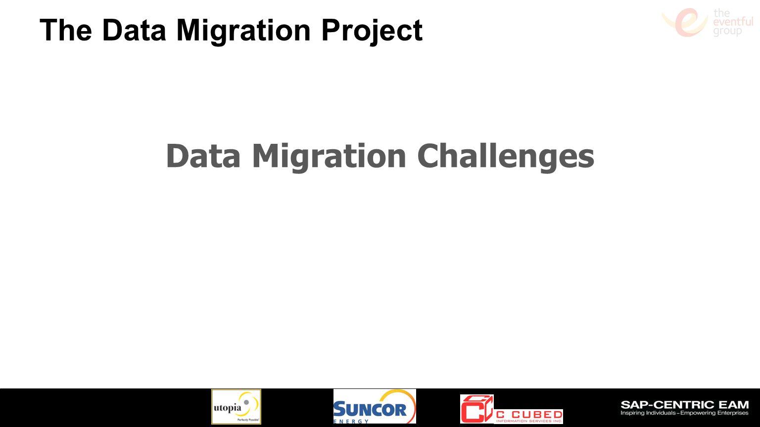 Slide 10 The Data Migration Project Data Migration Challenges