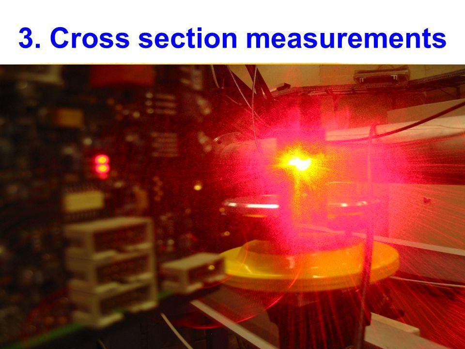 3. Cross section measurements