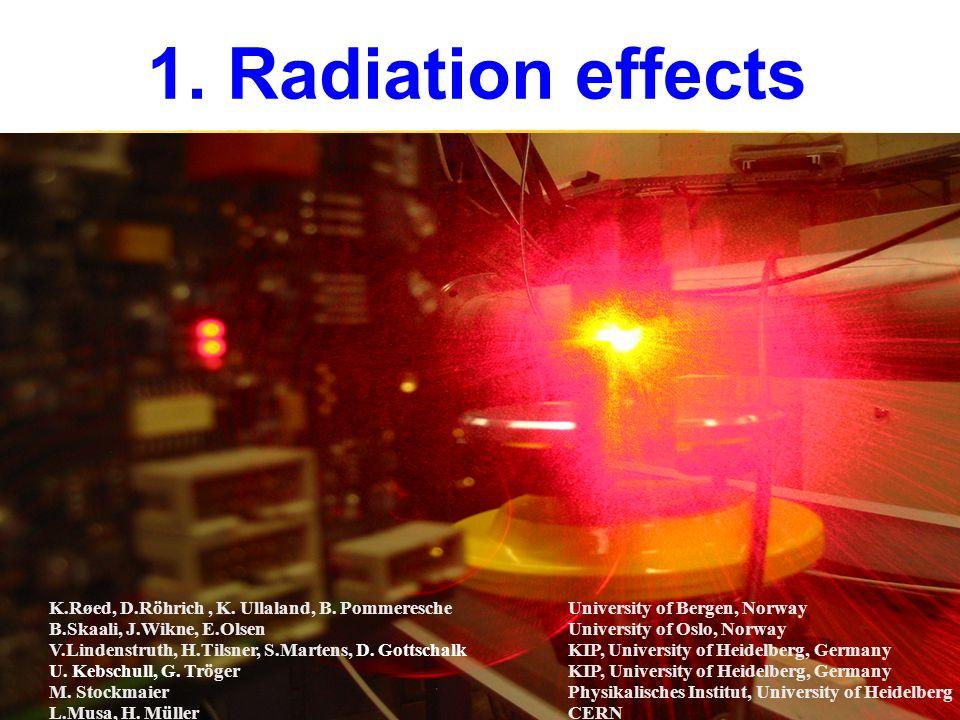1. Radiation effects K.Røed, D.Röhrich, K. Ullaland, B.