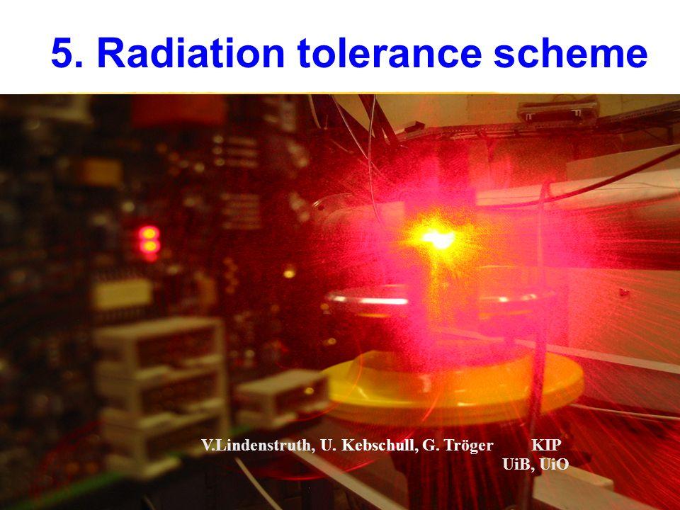 5. Radiation tolerance scheme V.Lindenstruth, U. Kebschull, G. Tröger KIP UiB, UiO