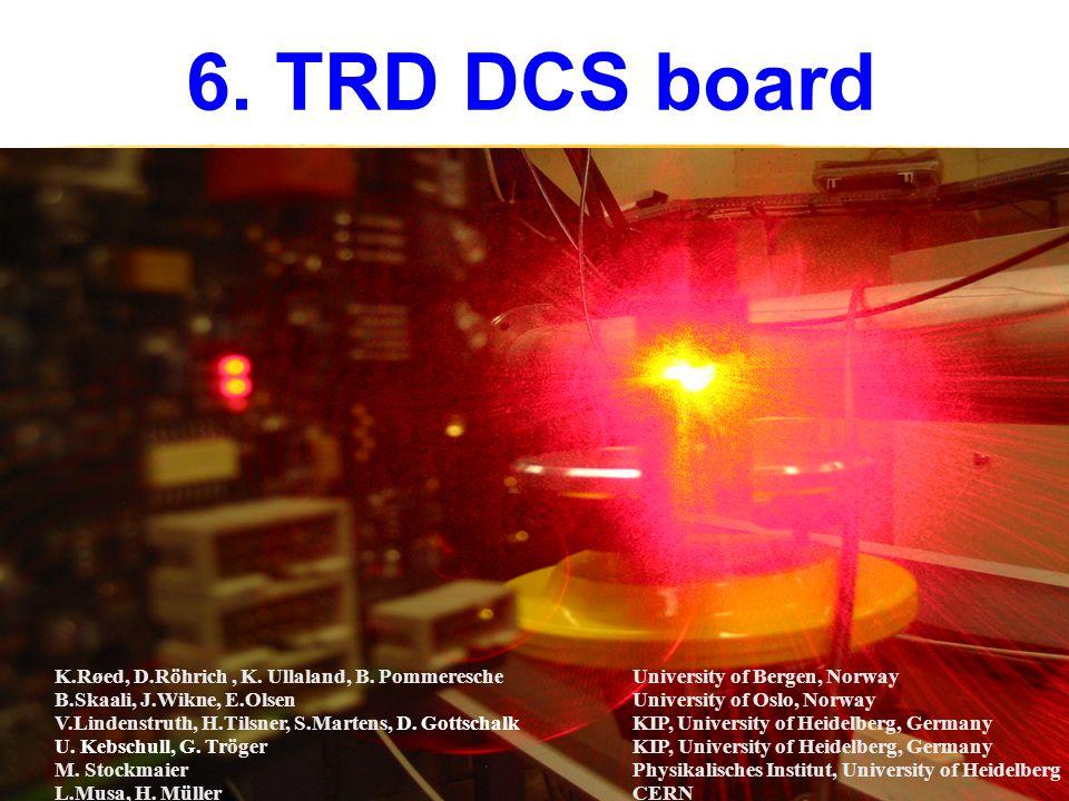 6. TRD DCS board K.Røed, D.Röhrich, K. Ullaland, B.