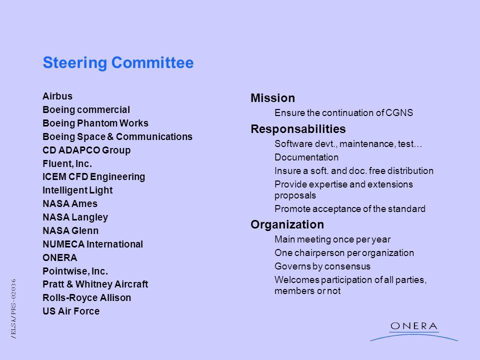 /ELSA/PRS-02036 Steering Committee Airbus Boeing commercial Boeing Phantom Works Boeing Space & Communications CD ADAPCO Group Fluent, Inc.