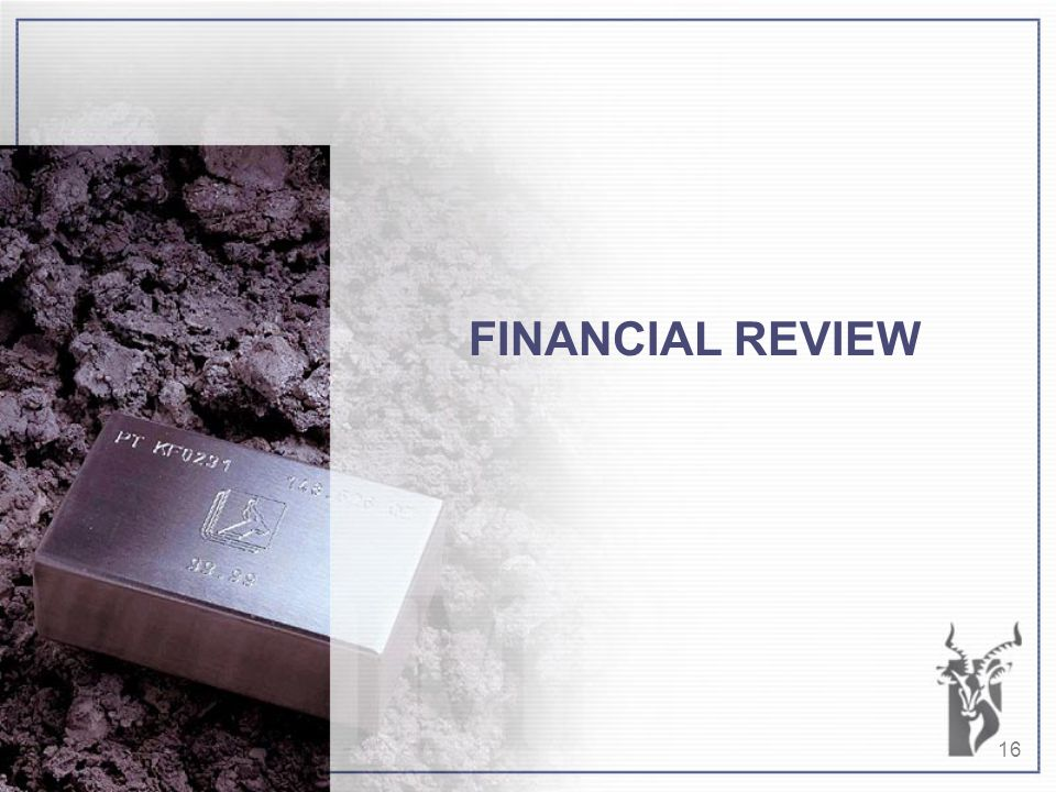 16 FINANCIAL REVIEW