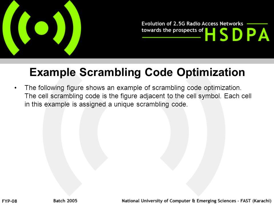 Example Scrambling Code Optimization The following figure shows an example of scrambling code optimization.