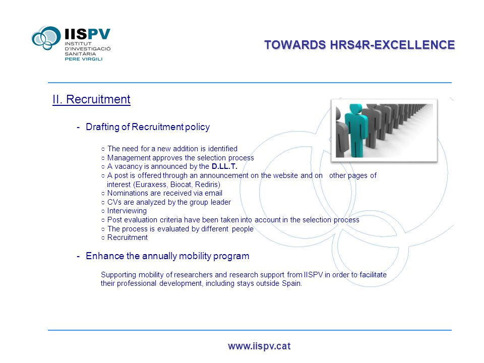 www.iispv.cat TOWARDS HRS4R-EXCELLENCE II.