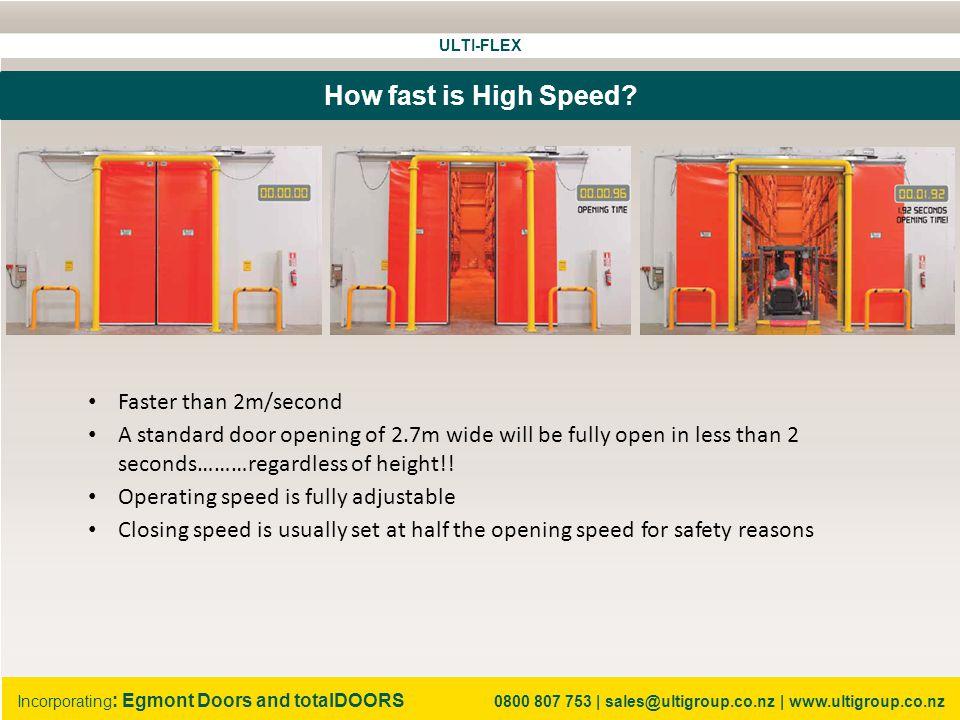ULTI-FLEX Incorporating : Egmont Doors and totalDOORS 0800 807 753 | sales@ultigroup.co.nz | www.ultigroup.co.nz Why Bi-Parting.