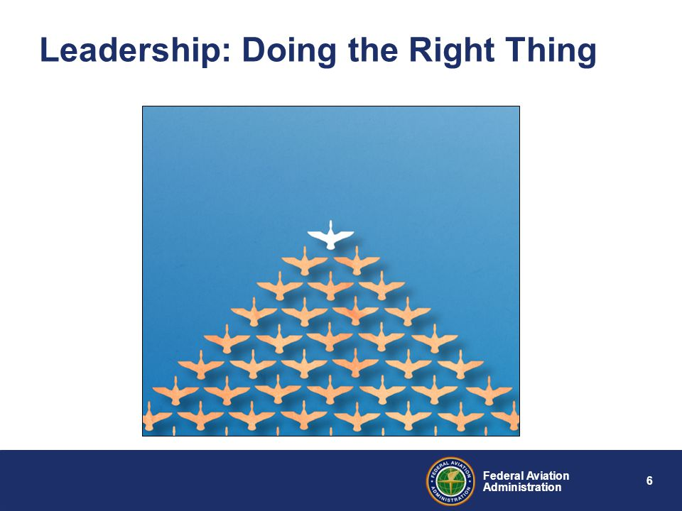 6 Federal Aviation Administration Leadership: Doing the Right Thing