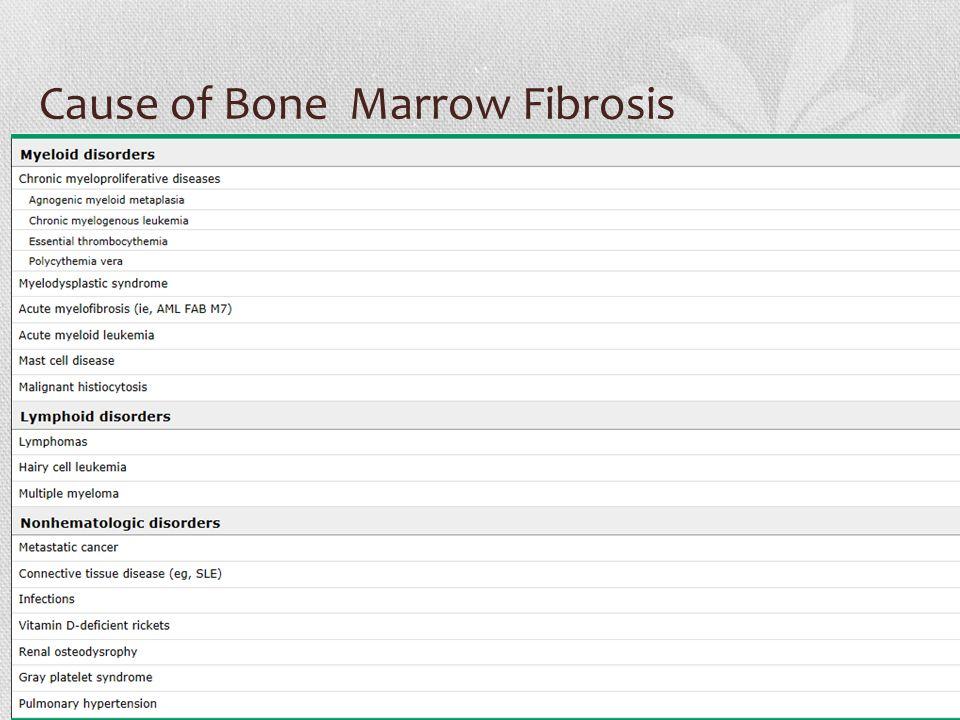 Cause of Bone Marrow Fibrosis