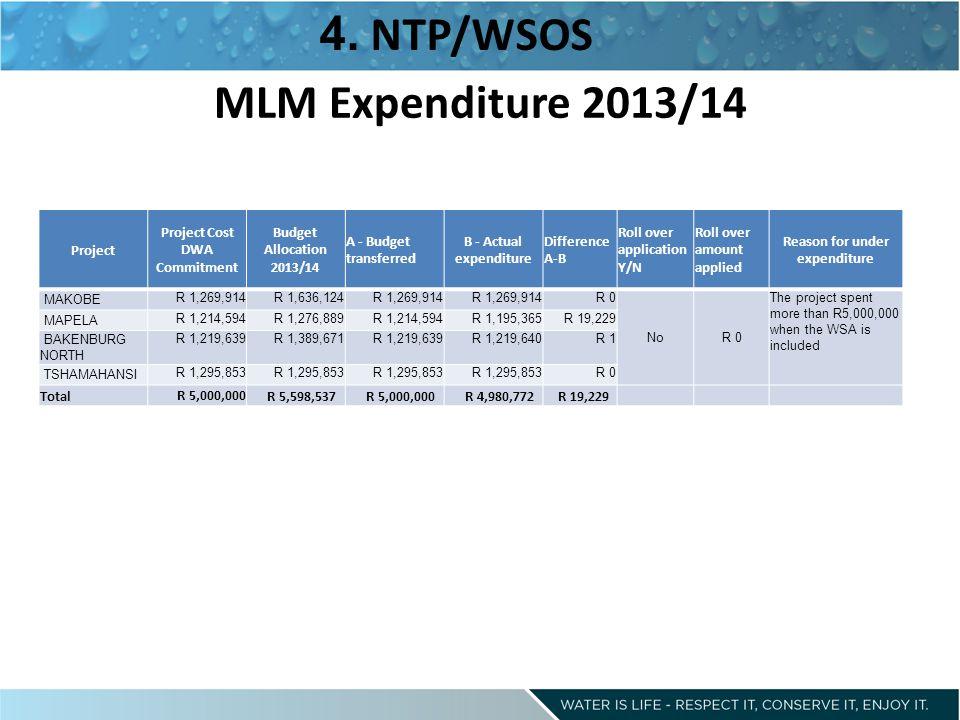 MLM Expenditure 2013/14 4.