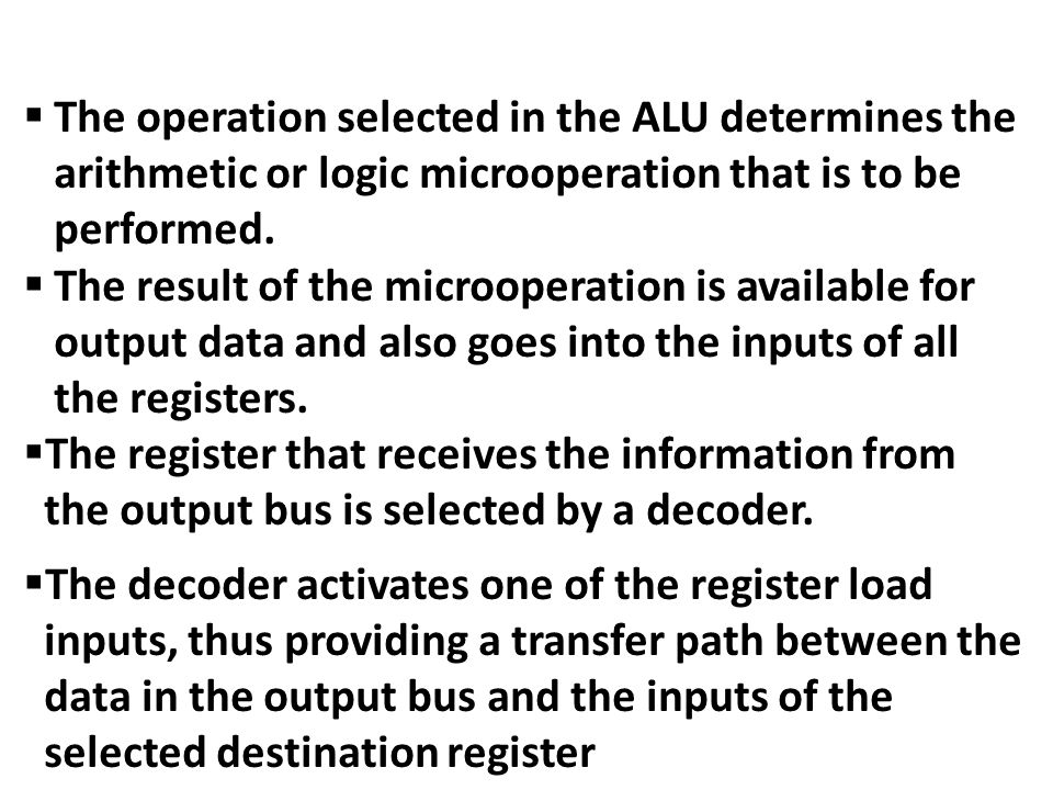 2-Two-Address Instructions MOVR1, A R1  M[A] ADDR1, B R1  R1+M[B] MOVR2, C R2  M[C] ADDR2, D R2  R2 + M[D] MULR1, R2 R1  R1 * R2 MOVX, R1M[X]  R1 The first symbol listed in an instruction is assumed to be both a source and the destination where the result of the operation is transferred.