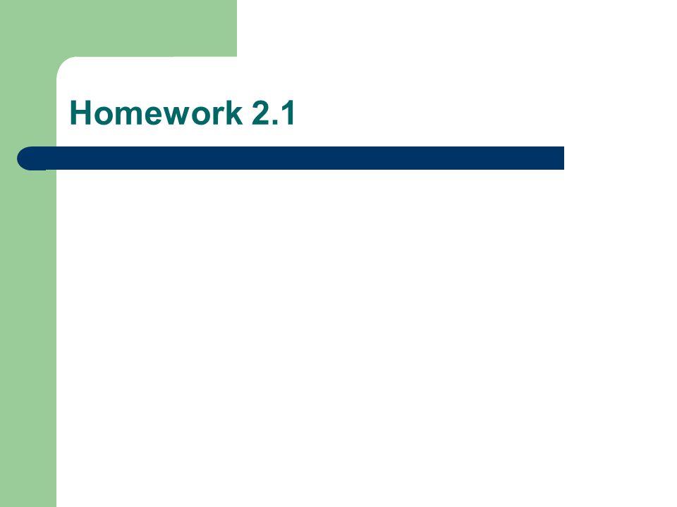 Homework 2.1