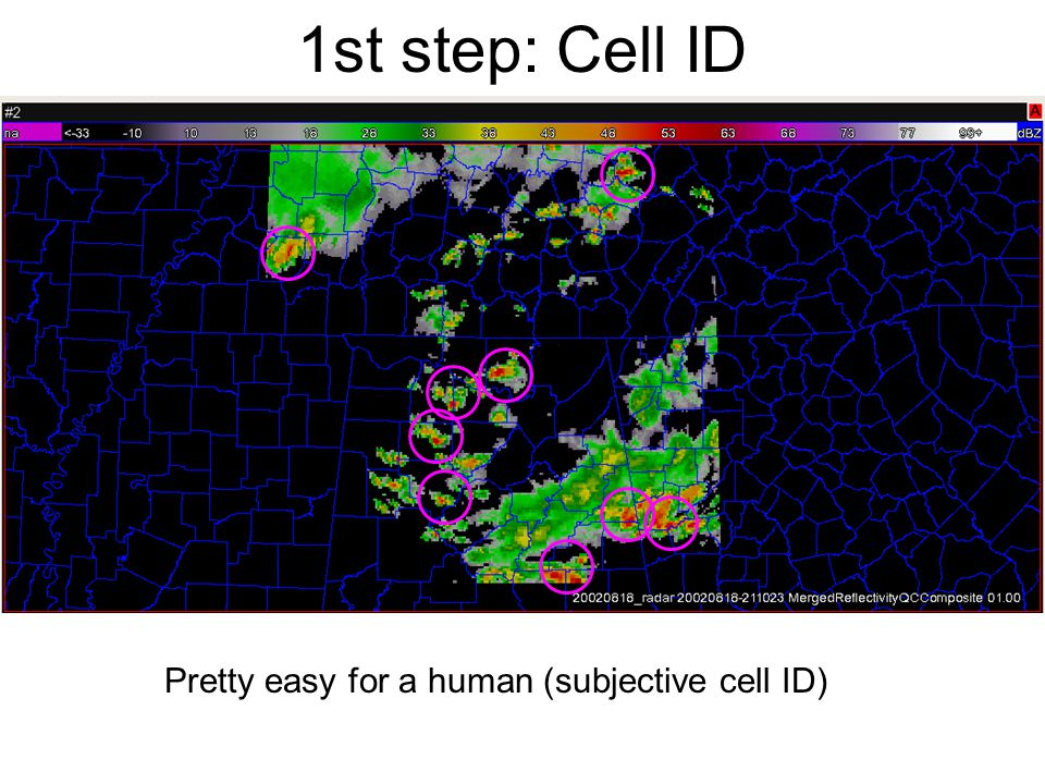 1st step: Cell ID Pretty easy for a human (subjective cell ID)