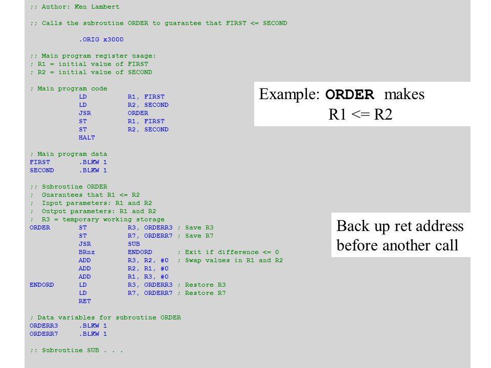 def factorial(n): if n == 0: return 1 else: return n * factorial(n - 1) Iteration vs Recursion def factorial(n): product = 1 while n > 0: product *= n n -= 1 return product Including 0 in the domain makes the assembler version easier