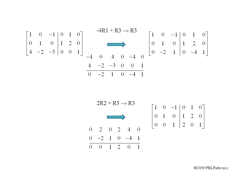  2009 PBLPathways -4R1 + R3  R3 2R2 + R3  R3
