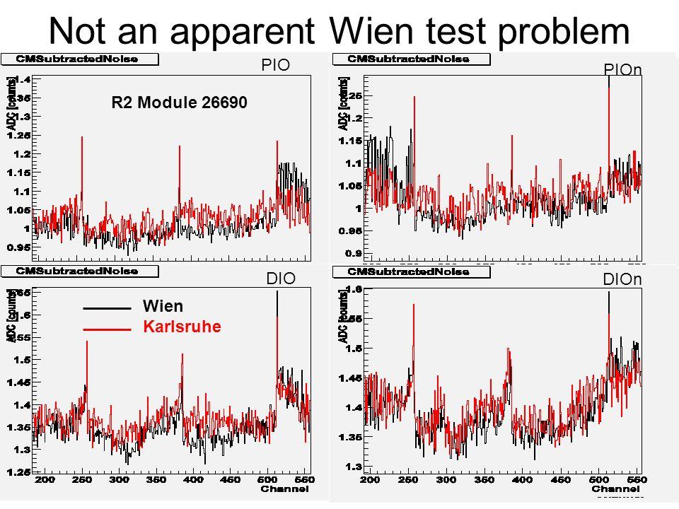 Javier Fernandez (IEKP/UniKa)10 Not an apparent Wien test problem PIO PIOn DIO DIOn Wien Karlsruhe R2 Module 26690