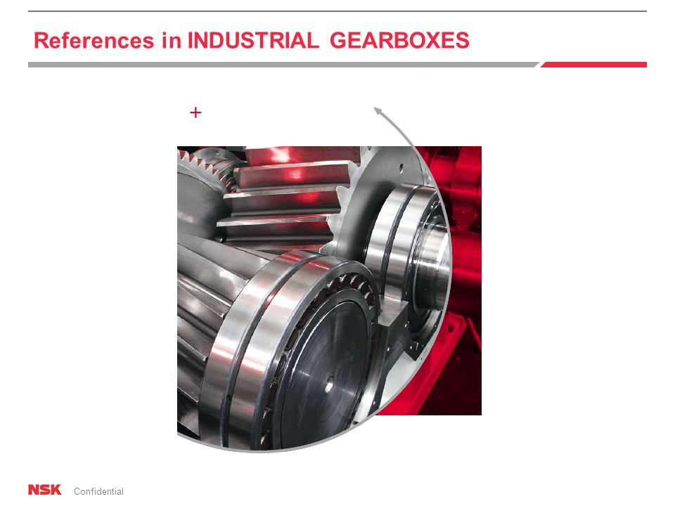 Confidential References in INDUSTRIAL GEARBOXES