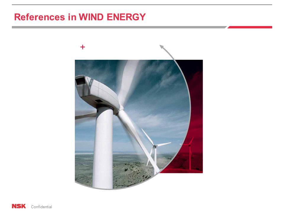 Confidential References in WIND ENERGY
