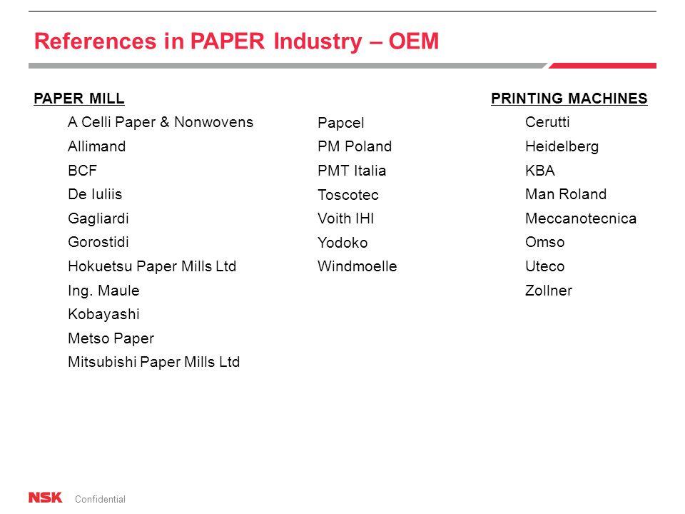 Confidential PAPER MILL A Celli Paper & Nonwovens Allimand BCF De Iuliis Gagliardi Gorostidi Hokuetsu Paper Mills Ltd Ing.