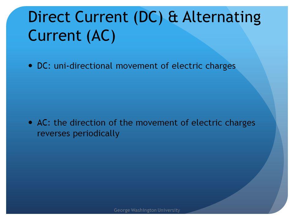 George Washington University Ohm's Law Quantifying the relationship between voltage and current V voltage, volt (V) I current, amp (A) R resistance ohm ( Ω ) V R I