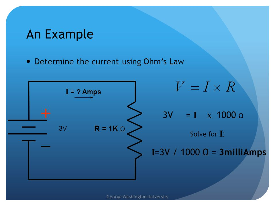 George Washington University Exercises - series Given a circuit with a power source V = 12V,find the loop current if resistances are in series Find the loop current by hand, and then build the circuit using the online interactive simulator What is the loop current if all resistances are doubled What is the loop current if all resistances are reduced by 50%