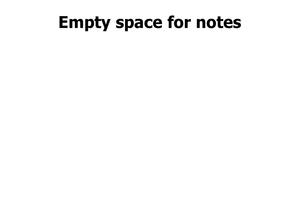 Empty space for notes