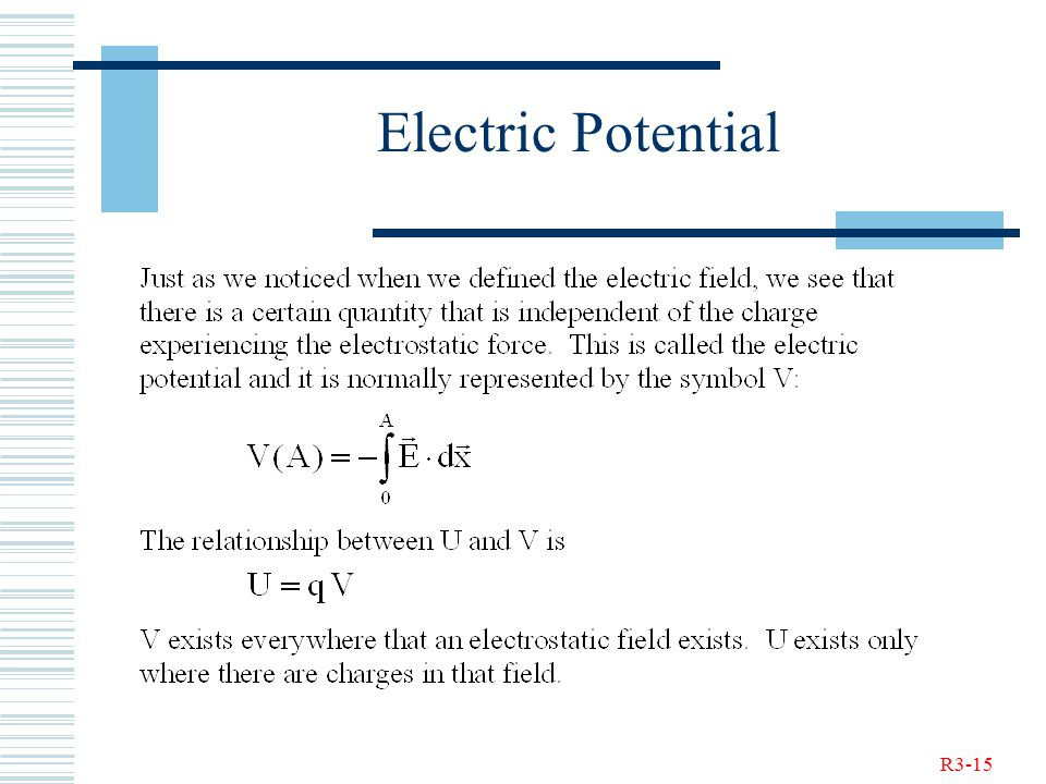 R3-15 Electric Potential