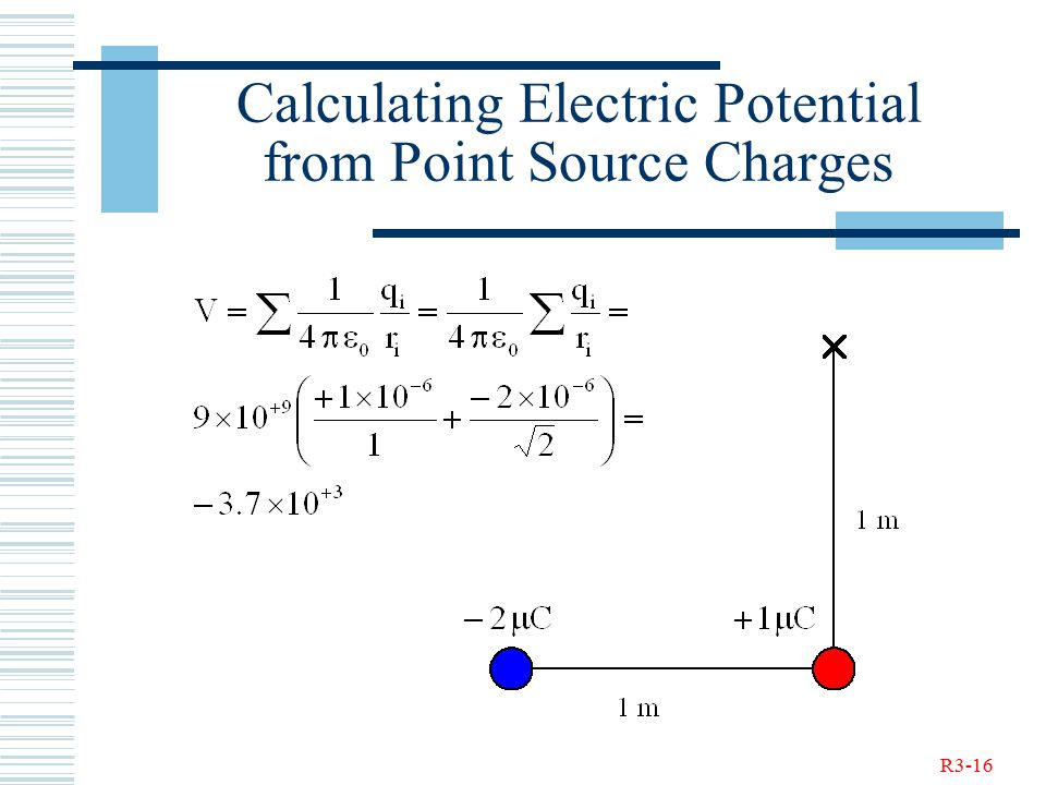 R3-16 Calculating Electric Potential from Point Source Charges